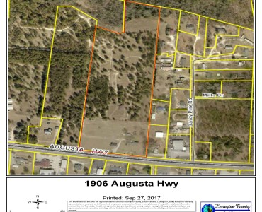 1906 Augusta Hwy Aerial Map